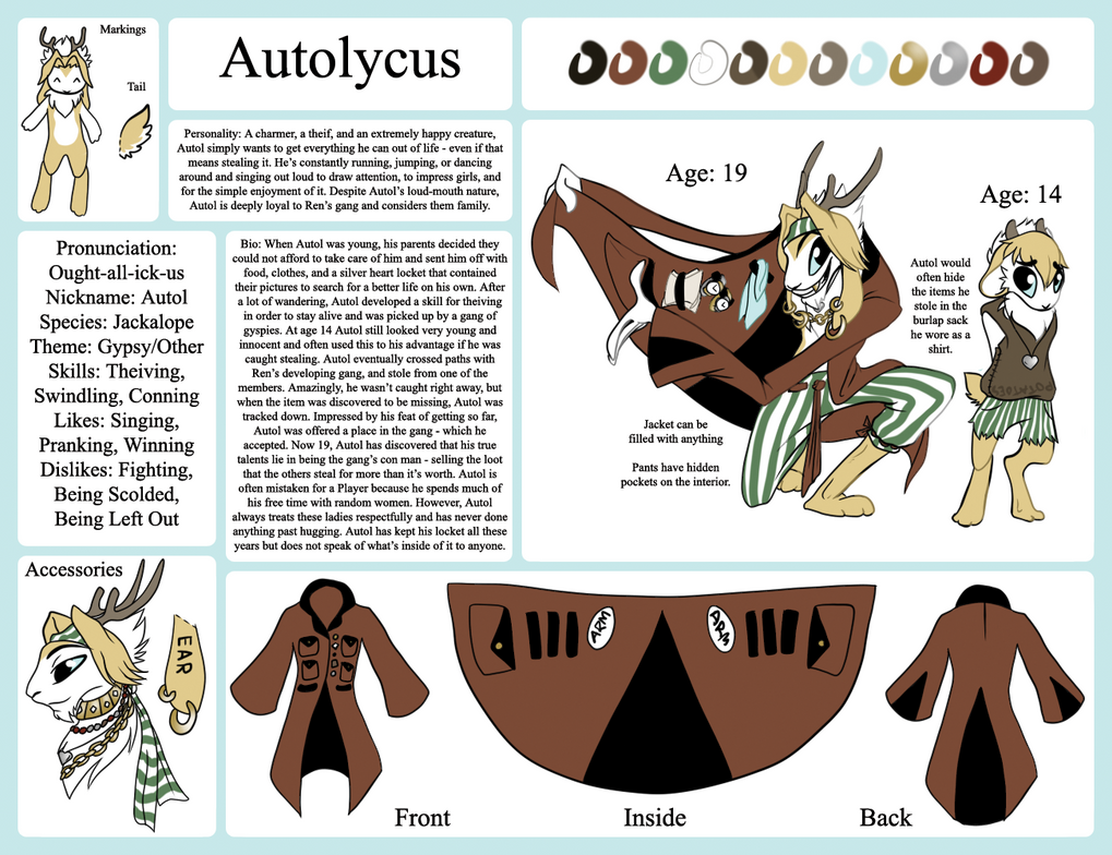 Zoophobia Contest Entry: Autolycus ('Other' Theme) by FirxFir