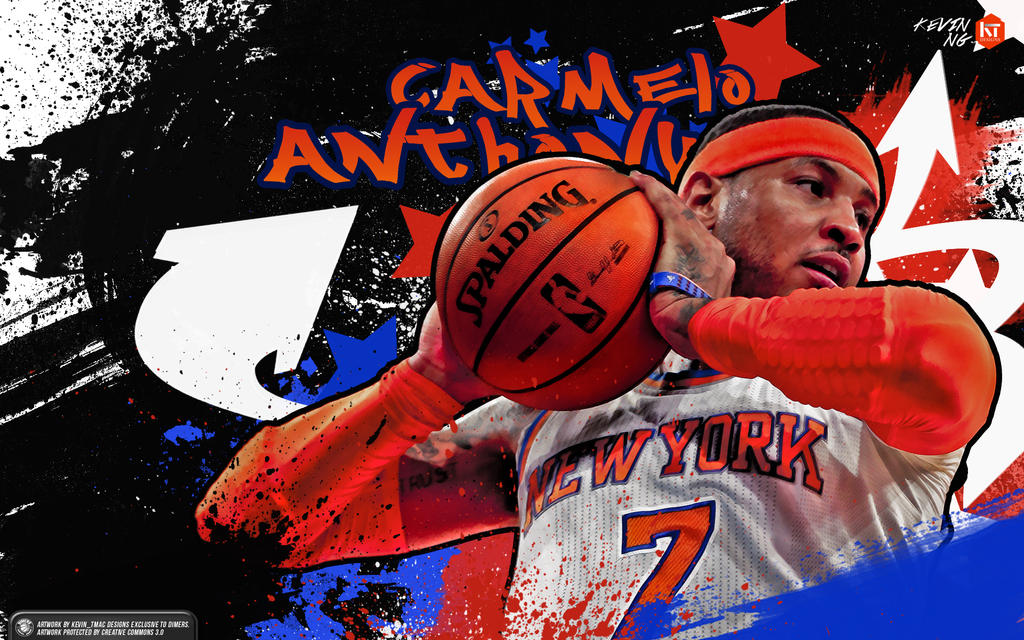 Carmelo Anthony Graffiti Style Wallpaper By Kevin Tmac
