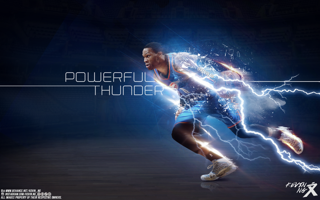 russell westbrook powerful thunder wallpaper by kevin tmac