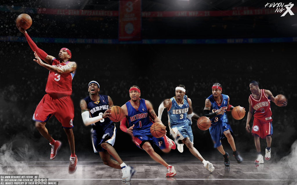 Allen Iverson NBA All Time Wallpaper By Kevin Tmac On