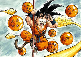 7000 hits with Goku by BK-81