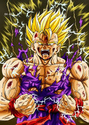Gohan powering up by BK-81