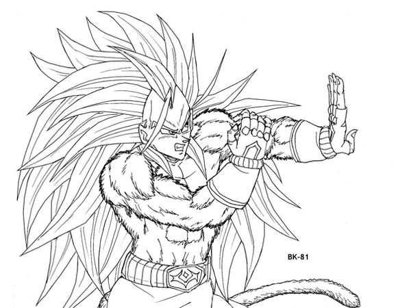 Vegeta Ssj5 Lineart By BK-81 On DeviantArt