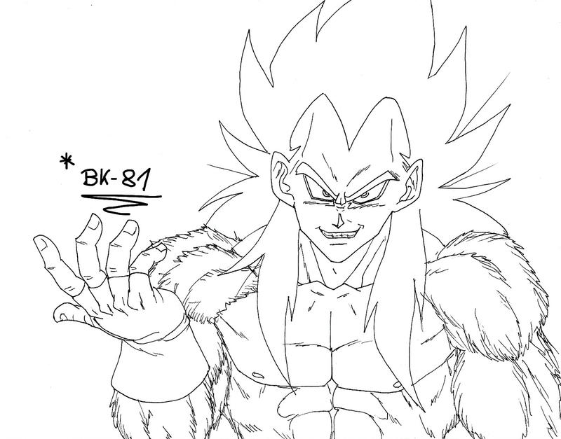 Vegeta Ssj4 Lineart By BK-81 On DeviantArt