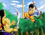 Goku Vs Tao bai bai