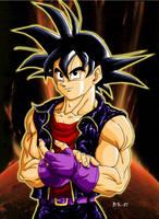 Vegeta- style Goku by BK-81