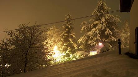 snowfall at night 2 by BK-81