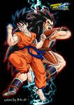 Goku and Radditz Kai