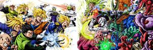 DBZ Villains Vs heroes clash by BK-81
