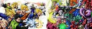DBZ Villains Vs heroes clash