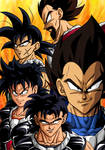 Kings and Queen of the Saiyans U3 by BK-81