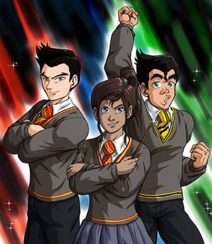 The Trio at Hogwarts