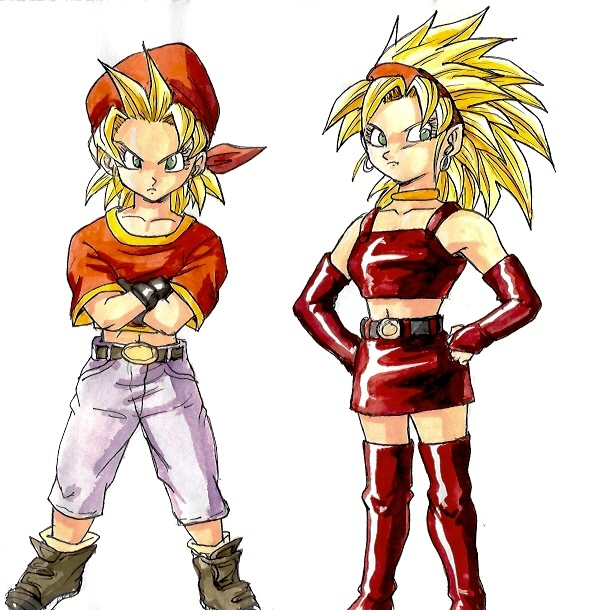 Super Saiyan girls by BK-81