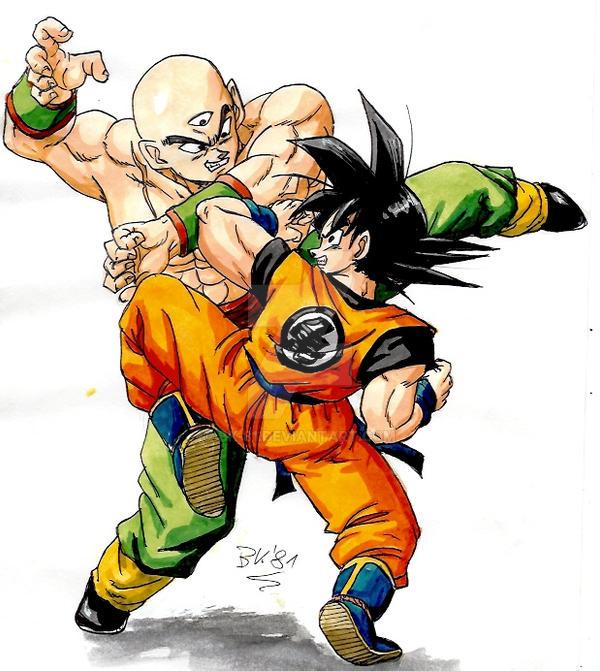Goku Vs Tenshinhan By Bk 81 On Deviantart