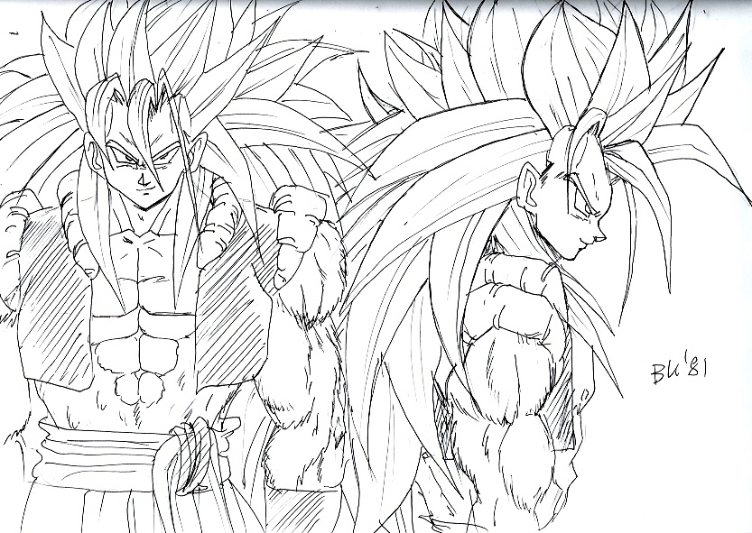 Scetch Gogeta Ssj5 By Bk 81 On Deviantart