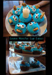 Cookie Monster Cup Cakes