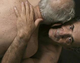 two older gay men photo art by shharc