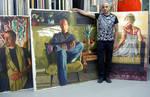 Raphael perez self portriat realistic painting art