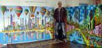 naive large colorful paintings naife big size art