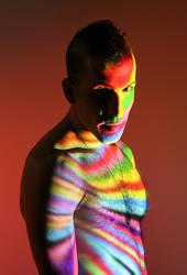 assaf henigsberg portriat male colorful face by shharc