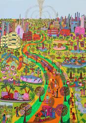 israeli painter raphael perez naive artist art by shharc