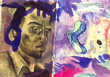 collage colorful painting ink on paper childish ar by shharc
