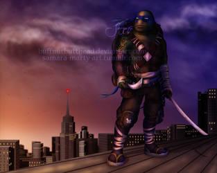 TMNT2 - Leonardo (SPEEDPAINTING) by BuffnutButthead