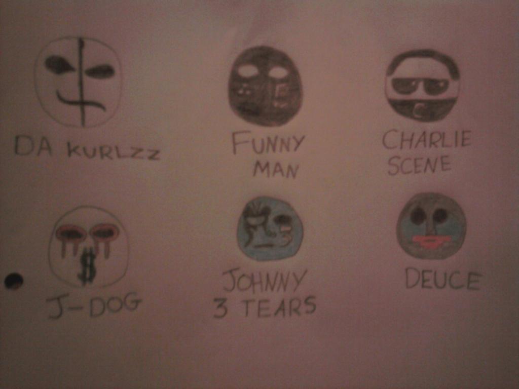 Hollywood Undead's Masks by TreasureOfTheSands on DeviantArt