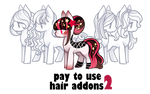 Hair addons 2 base for pony by BaseAdopts - p2u