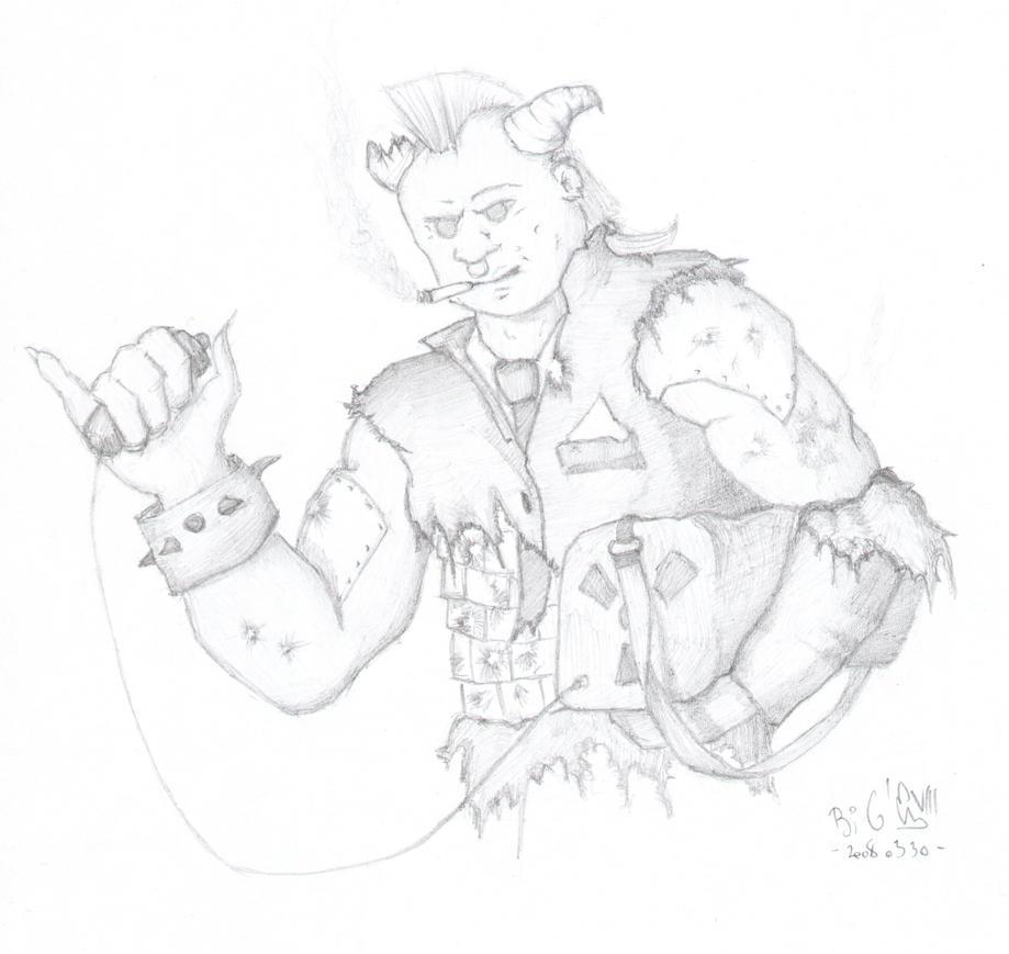 Shadowrun Troll with Nuke by huncyrus