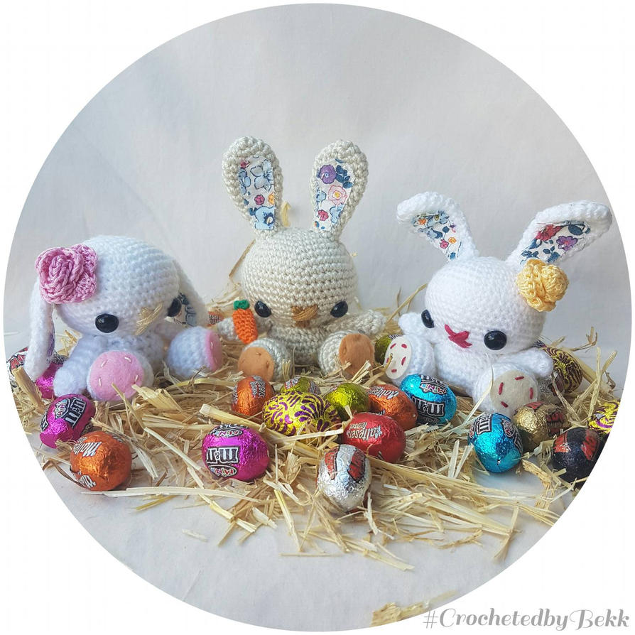 Easter Bunnies!  by CrochetedbyBekk
