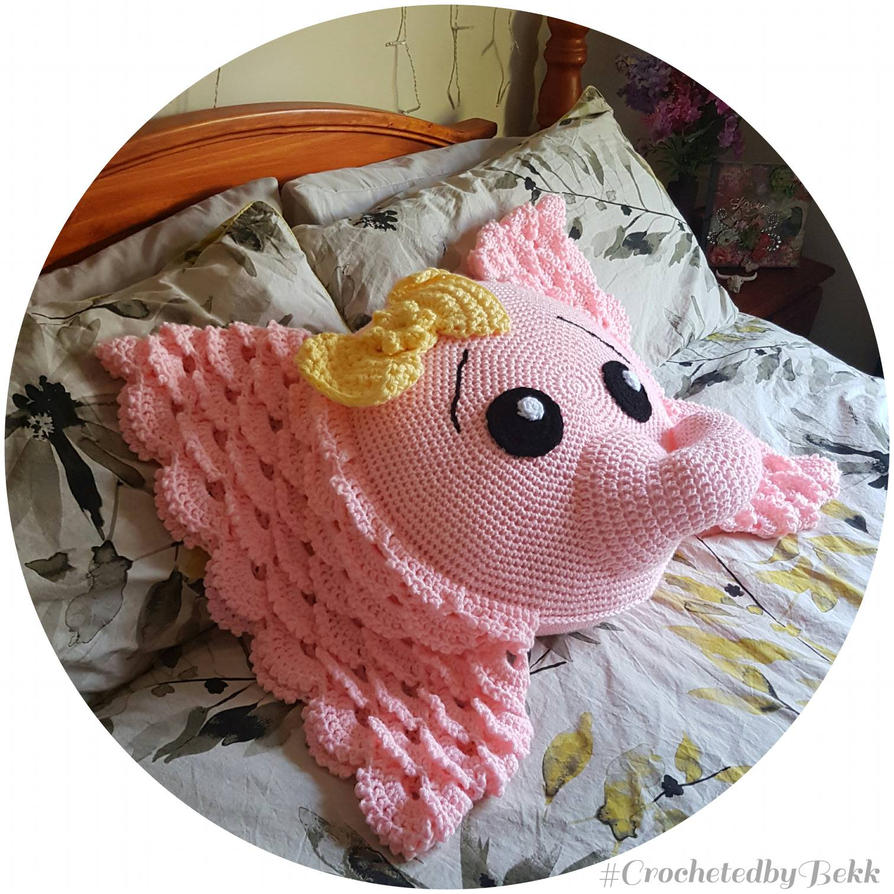 Sweet Pink Elephant  by CrochetedbyBekk