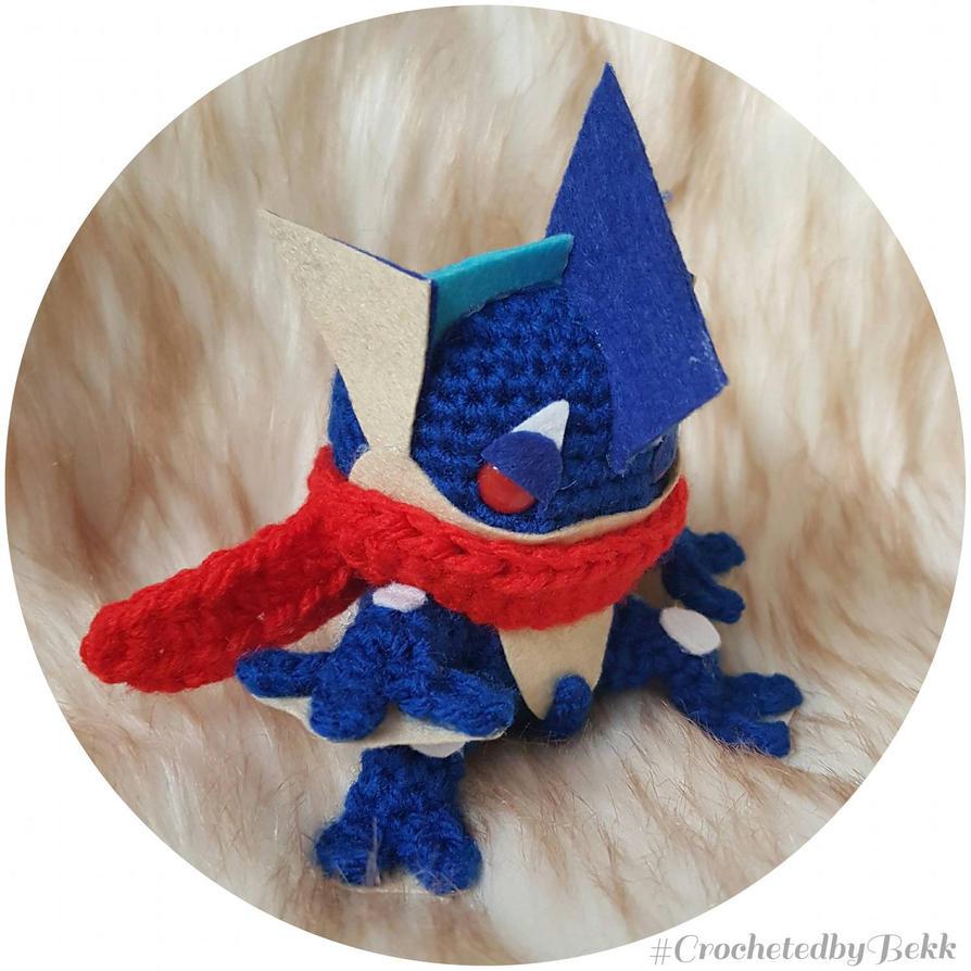 Greninja Pokemon!  by CrochetedbyBekk
