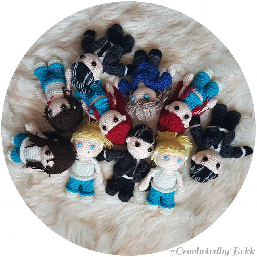 Dolls for dayss  by CrochetedbyBekk