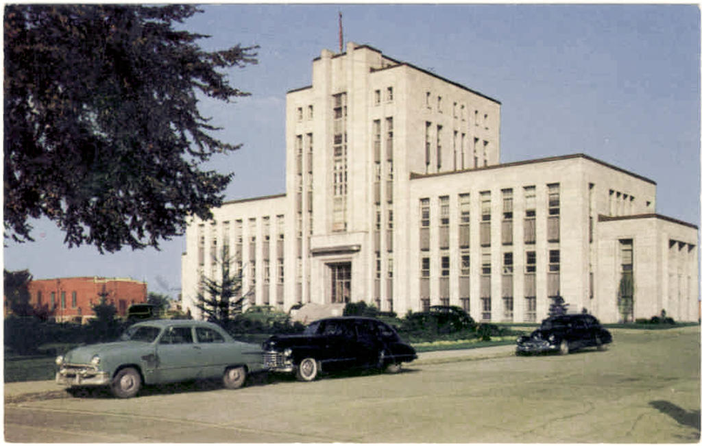 shawinigan falls hotel de ville 1950 by j bellemare on