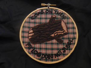 Log Lady - Embroidery Piece