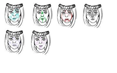 Vakne Face Markings by Nikai-Nocturne