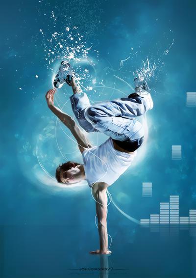 blue break dance by johngiannis27