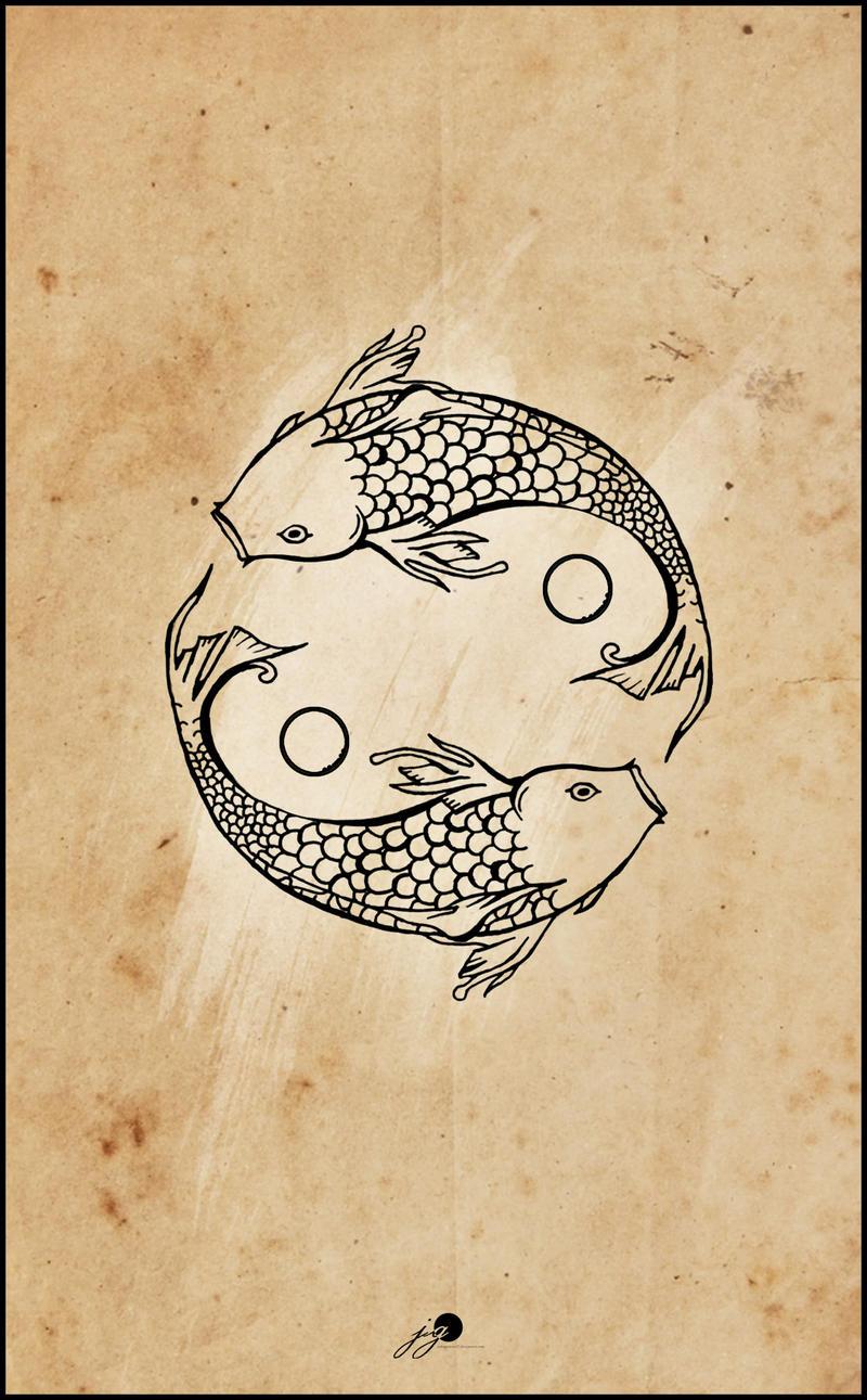 Koi koi fish tattoo and skeletons on pinterest for Yin yang fish