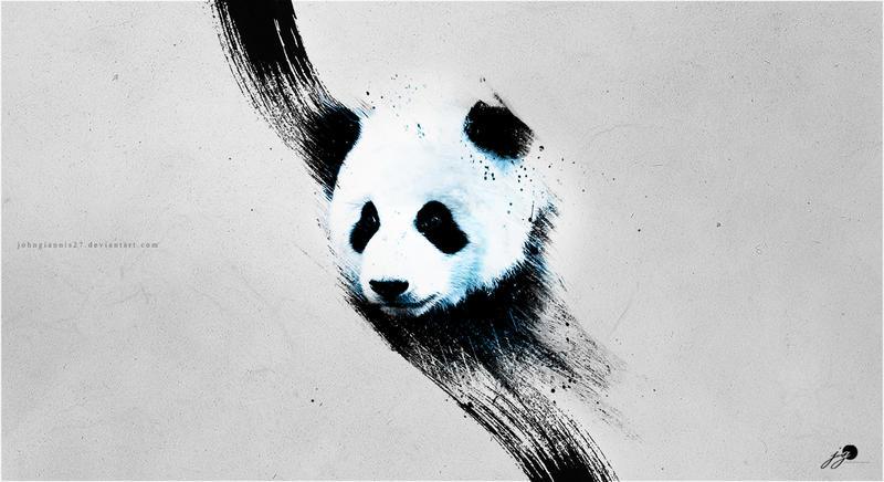Panda - Wallpaper* by johngiannis27