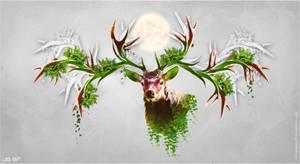 Reindeer nature