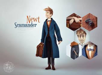 [NF] Newt Scamander by ZimtHandmade