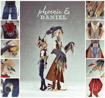 [$] Phoenix and Daniel by ZimtHandmade