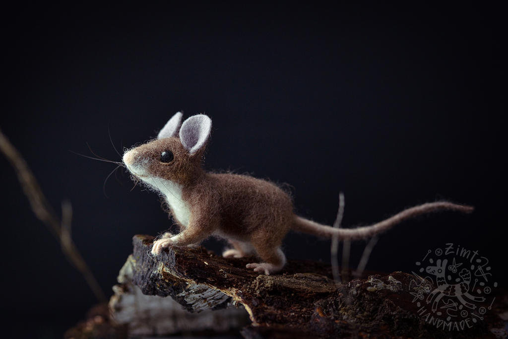 [NF] Wood mouse by ZimtHandmade