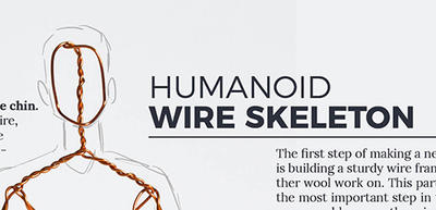 Patreon - humanoid wire skeleton by ZimtHandmade