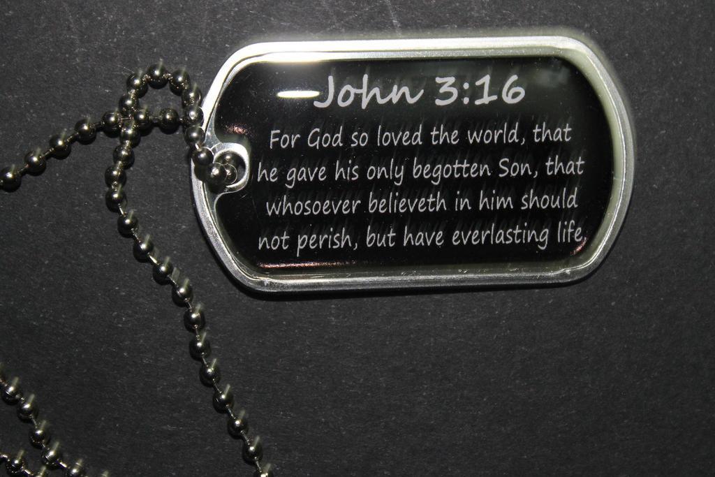 John 3:16 Dog Tag