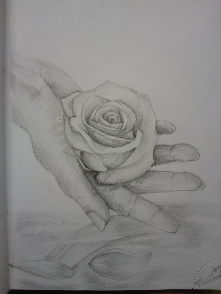 Rose in hand by Chrumka02