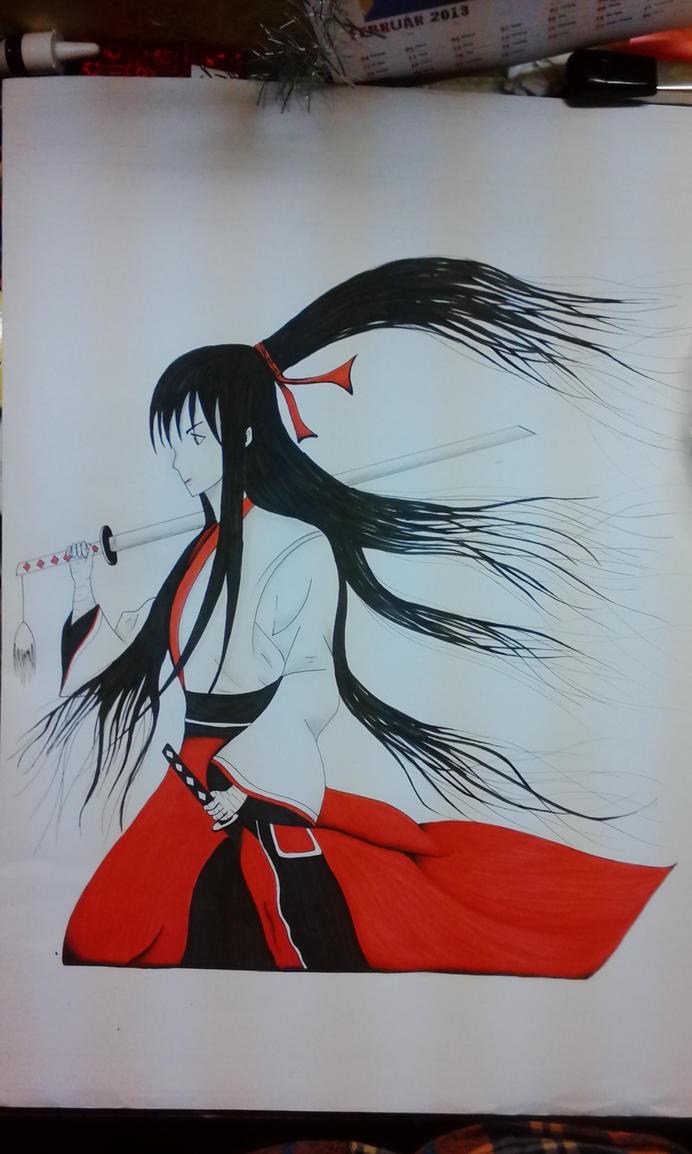 Samurai girl by Chrumka02