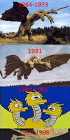 Evolution of King Ghidorah