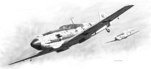 Messerschmitt Bf-109E Drawing